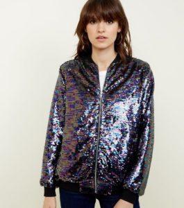 chaqueta brillante, glam jacket