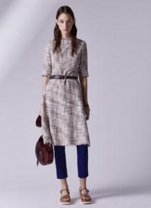 vestido tweed, adolfo dominguez