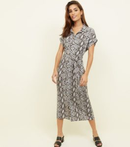 snake print dress, vestido estampado de serpiente