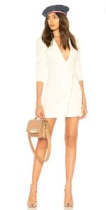 preppy look, blazer dress, revolve dress