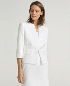 blazer blanco, look blanco